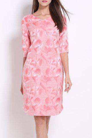 Outfits Flower Embroidery Straight Dress