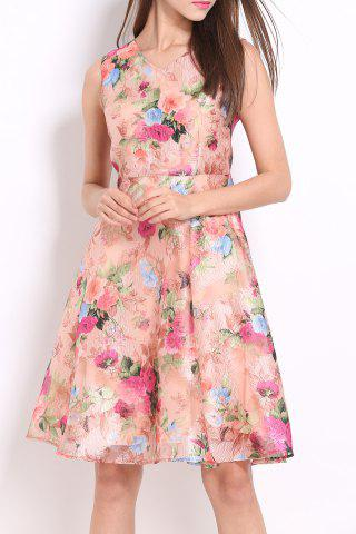 Outfits Floral Pattern Defined Dress