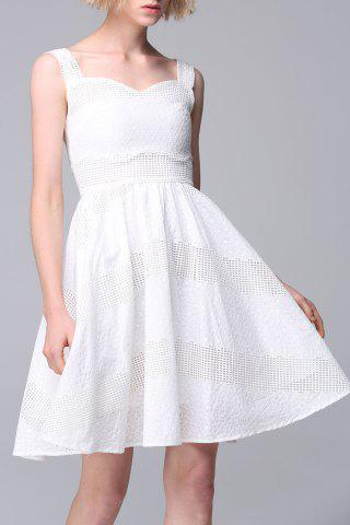 Outfits Sleeveless Embroidered Mesh Dress