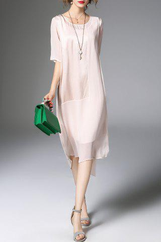 Sale Solid Color High-Low Dress