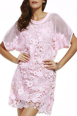 Outfit Cami Dress and Hollow Out Embroidery Dress Twinset