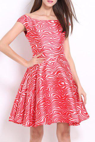 Latest Slash Neck Zigzag Dress