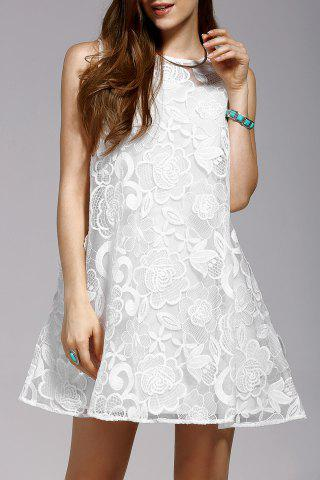Cheap Cami Dress and Embroidery Sleeveless Dress Twinset