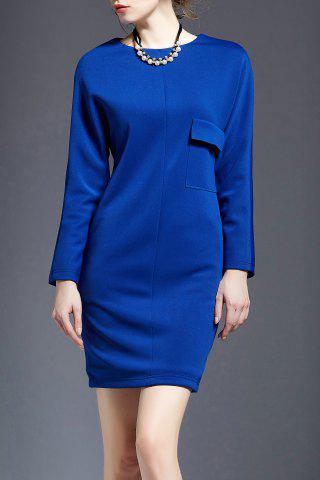 Best Solid Color Mini Long Sleeve Dress