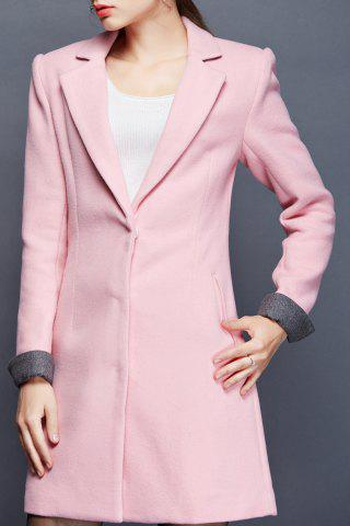 New Lapel Worsted Long Coat