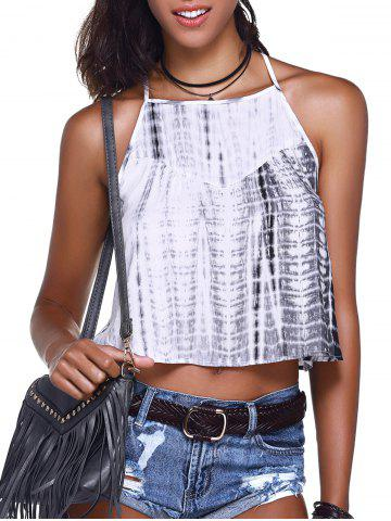 Store Tie Dye Camisole Tank Top GREY AND WHITE L