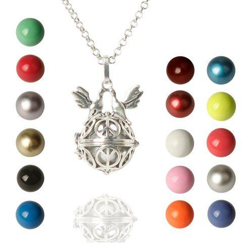 Latest Cute Bead Bird Wings Necklace For Women COLORMIX