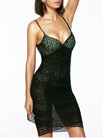 Affordable Guipure Backless Openwork Bathing Suit Cover-Ups