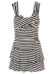Trendy Sweetheart Neckline Striped One-Piece Swimsuit For Women