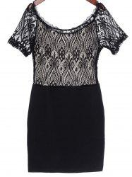 Lace Panel Mini Club Dress