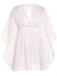 Plunge Batwing Flowy Tunic Beach Cover Up