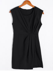 Simple Sleeveless Round Neck Dress For Women -