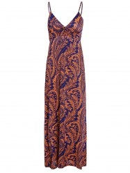 Maxi Backless Print Boho Slip Dress