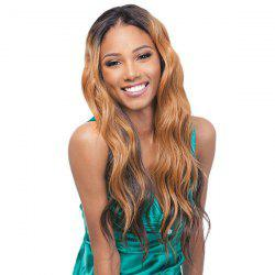 Stylish Synthetic Long Wavy Wig For Women -