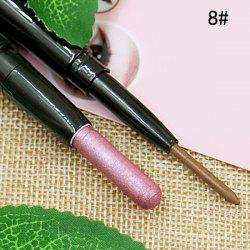 Stylish 3 Colours Double-End Brighten Shadow Highlight Eyeshadow pencil Silkworm Pencil -