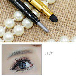 Stylish 15 Colours Double-End Brighten Lip Liner Highlight Silkworm Pencil Eyeliner pencil