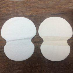 Stylish 2 Pcs Sweat Absorbing Ultra Thin Underarm Sweat Pads - WHITE