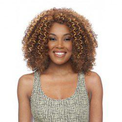 Stylish Synthetic Kinky Curly Wig For Women -
