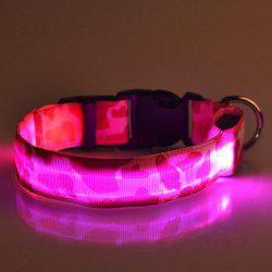 Chic Camouflage Pattern LED Luminous Night Walk Collar For Dogs