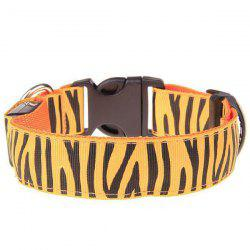Stylish Zebra-Stripe Pattern LED Luminous Collar For Dogs