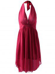 Fashionable Fitted Halterneck Open Back Dress For Women