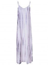Fashionable Low-Cut Spaghetti Strap Tie-Dye Dress For Woman -