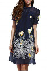 Cami Dress and Floral Print Loose Dress Twinset -