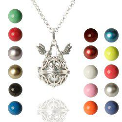 Cute Bead Bird Wings Necklace For Women - COLORMIX