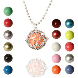 Vintage Retro Star Bead Necklace -
