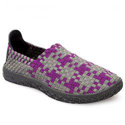 Leisure Weaving and Color Block Design Loafers For Men -