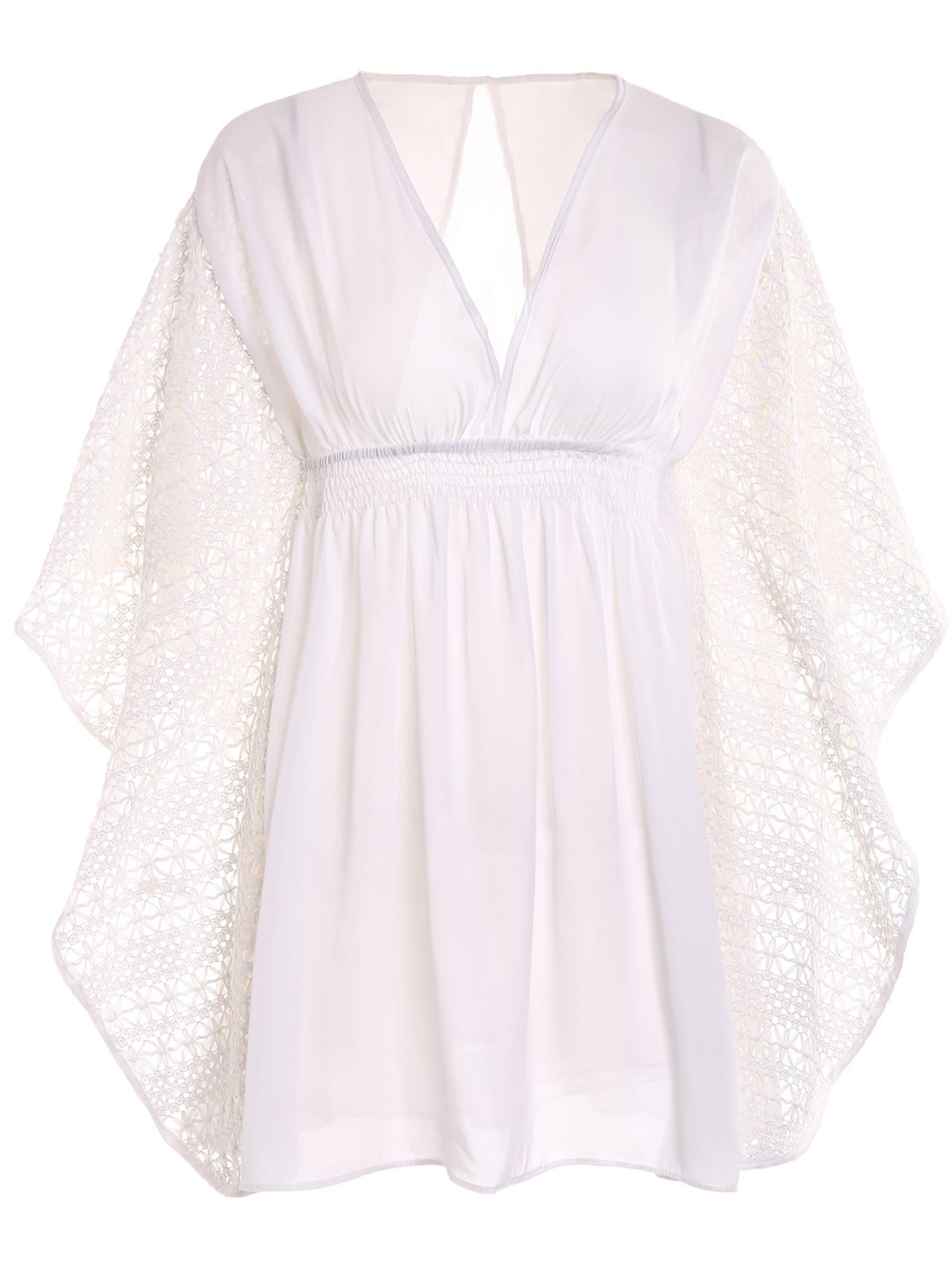 New Plunge Batwing Flowy Tunic Beach Cover Up