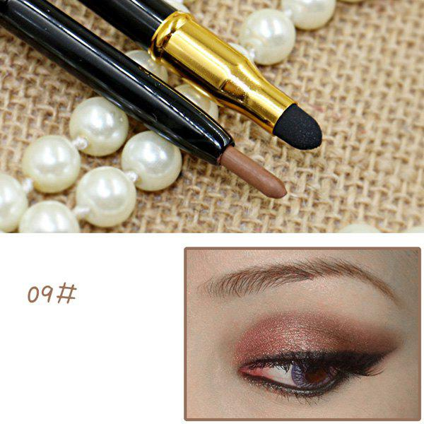 Stylish 15 Colours Double-End Brighten Lip Liner Highlight Silkworm Pencil Eyeliner pencilBEAUTY<br><br>Color: 09; Category: Eyeliner; Type: Other; Features: Hypoallergentic; Season: Fall,Spring,Summer,Winter; Weight: 0.120kg; Package Contents: 1 x Pencil;