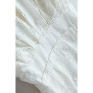 Square Neck Embroidered Dress -