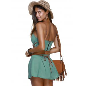 Stylish Strappy Tie Top and Shorts Set For Women -