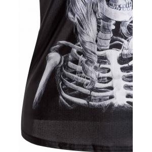 Stylish Scoop Neck Slimming Skulls Print Tank Top For Women -
