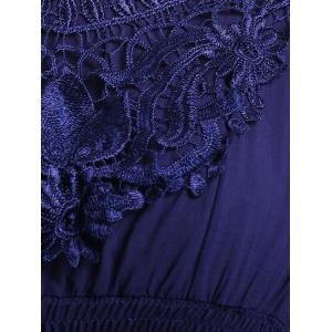 Ethnic Style Round Neck Lace Embroidery Batwing Sleeve Blouse For Women -