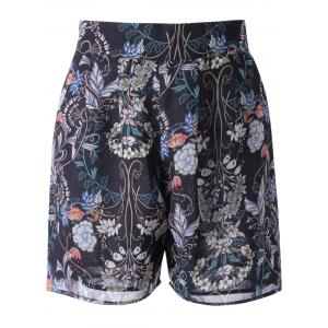 High Waisted Floral Knee Length Shorts