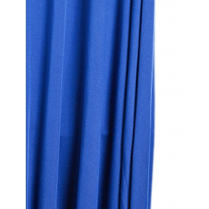 Maxi Plunge Sleeveless Open Back Formal Dress - ROYAL BLUE S