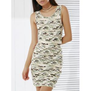 Women's Stylish Camouflage Print Skinny Tank Dress