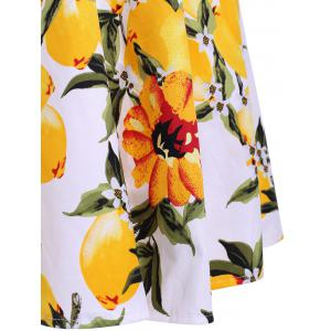 Trendy Floral Print Jewel Neck Sleeveless Two Piece Dress For Women -