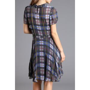 Fitting Belted Checked Dress -