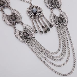 Vintage Water Drop Wings Necklace For Women -