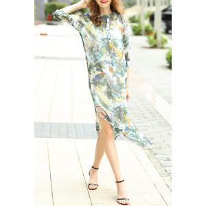 Single-Breasted Printed Dress and Cami Tank Top Suit -