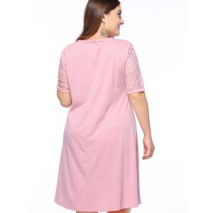 Alluring Plus Size Lace Spliced High Low Dress -