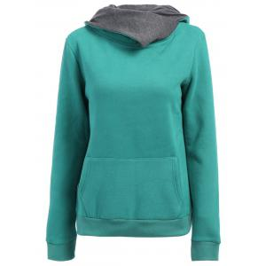 Casual Style Loose-Fitting Solid Color Long Sleeve Women's Hoodie