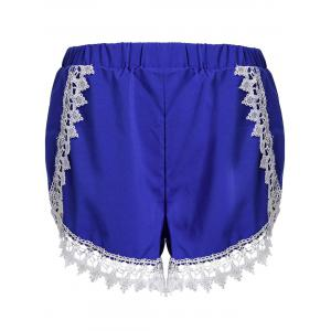 Sweet Elastic Waist Laced Loose Shorts For Women