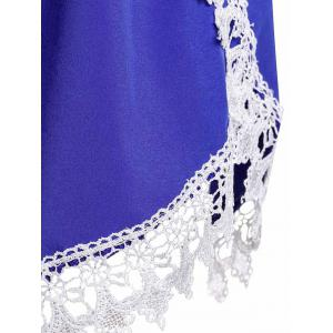Sweet Elastic Waist Laced Loose Shorts For Women - BLUE M