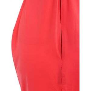 Alluring Strapless Sleeveless Rhienstoned Dress + Solid Color Skirt Women's Twinset -