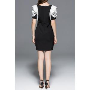 3D Ruffled High Waist Sheath Dress -