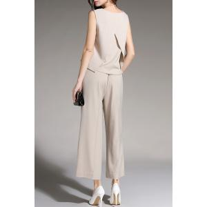 Sleeveless Top and Wide Leg Pants -